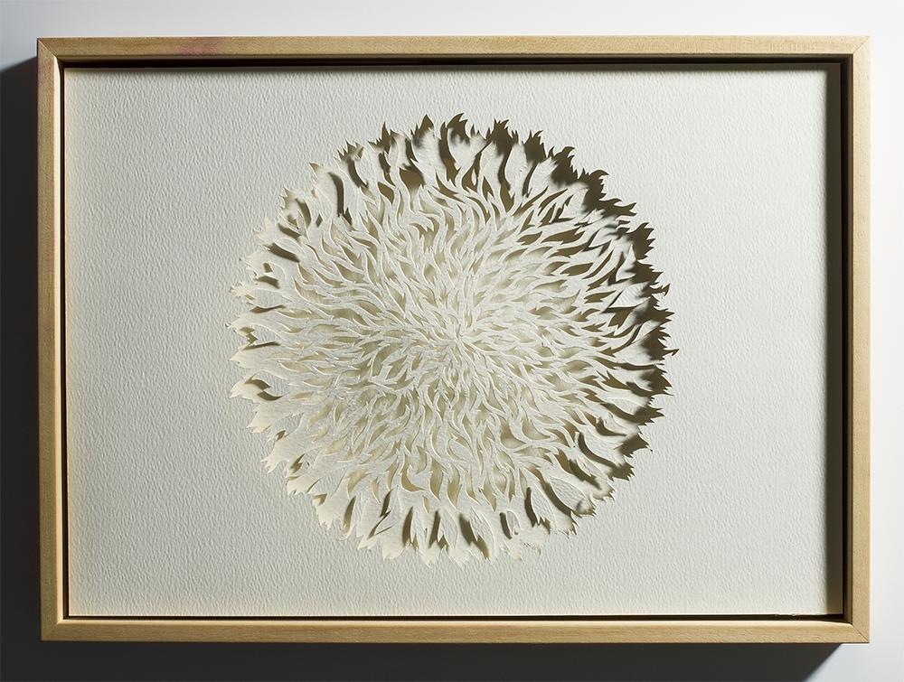 "<a href=""/jewellery/paper-cut-fire-mandala-2010-watercolour-paper-board-and-wood-frame-work-a3-outdimcm-44-x"">Paper Cut - FIRE MANDALA  2010 Watercolour paper, board and wood frame. Work A3. out/dim/cm 44 x 32 x 5, photo Simon B Armitt</a>"